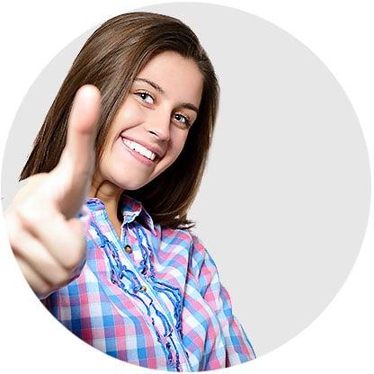 Signature Orthodontics Edmonton Girl Smiling